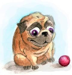 Sad Pug by LindseyBell