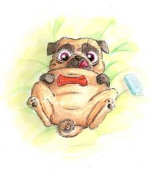 Lazy Pug by LindseyBell