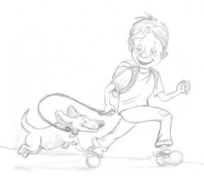 Boy and his dog by LindseyBell