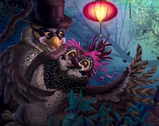 owls dance (closeup) by LindseyBell