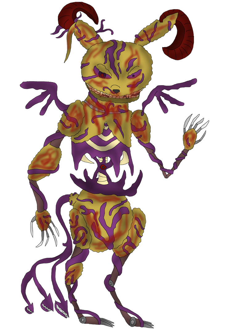 Springtrap in demonic form without background by FireEmber345 on ...
