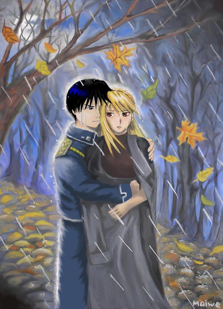 Roy and Riza... Autumn by Maiwe