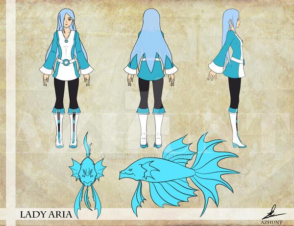 Sample LadyAria ConceptArt Turnaround by Azhunt
