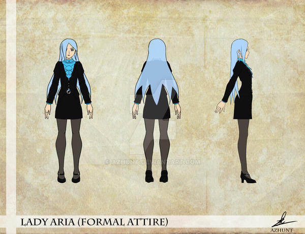 LadyAria Formal ConceptArt TurnAround by Azhunt