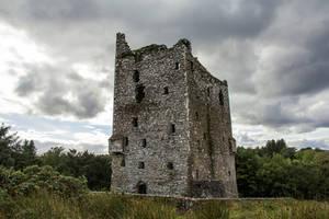 Ballynacarriga Castle Ruin Ireland by AcridMonkry