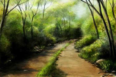 Country Lane Speedpainting by AcridMonkry