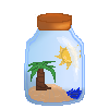 Beach in a Bottle Avatar by Rainstarlightsky