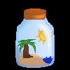 Beach in a Bottle Avatar by Rainstarlightsky