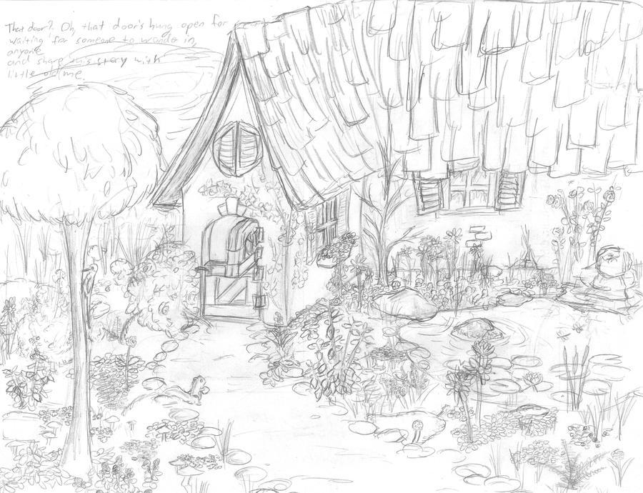 Little Fantasy Cottage By Mintflower