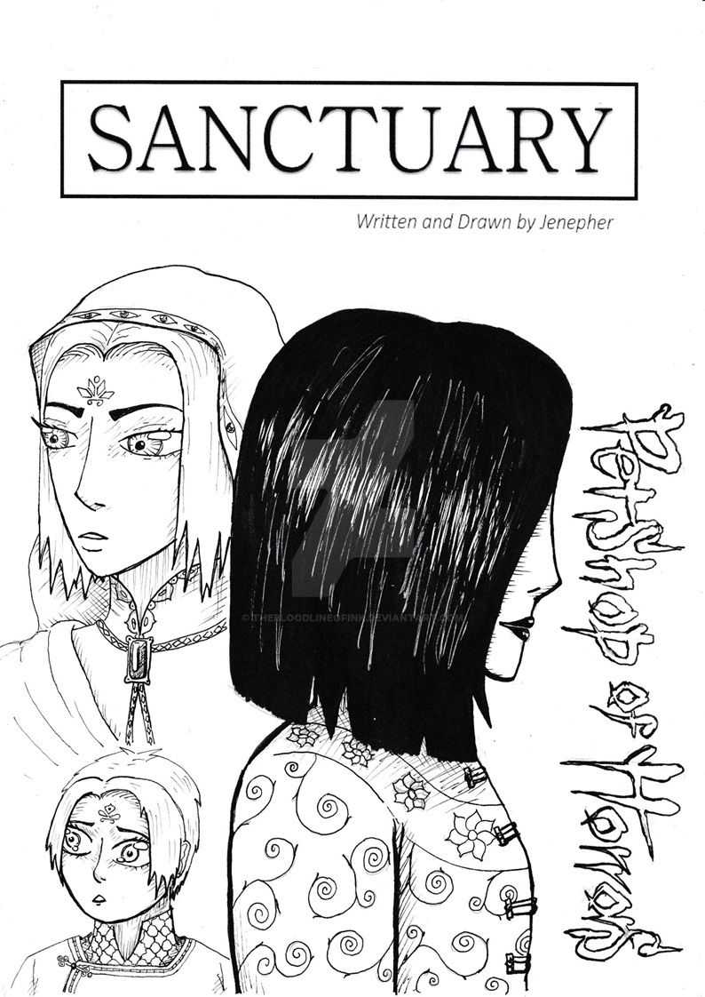 Sanctuary Doujinshi Cover Page by TheBloodlineofInk