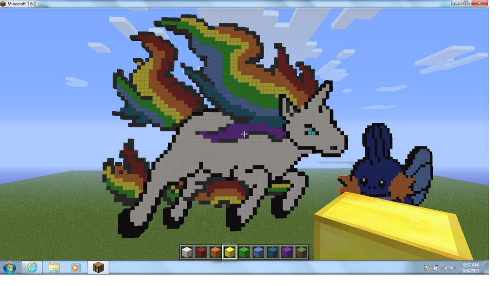 Minecraft Pixel Art Dabbing Unicorn