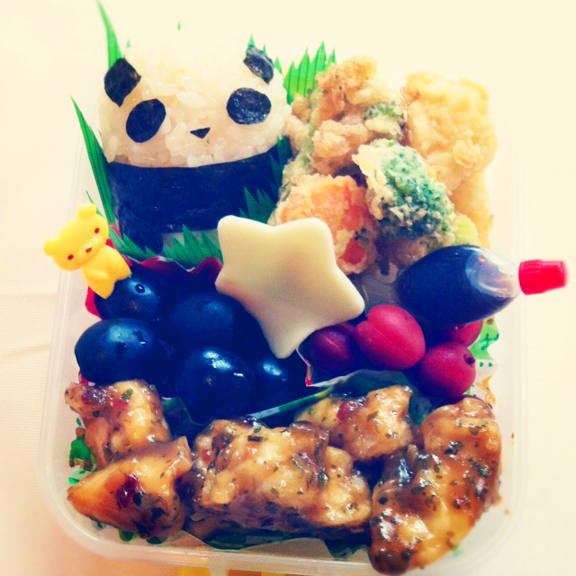 Panda Bento by coffeejelly