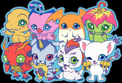 Digimon Group Fan Art