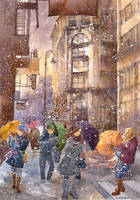 Winter illustration by Kot-Filemon