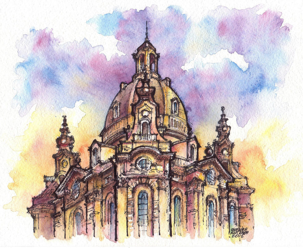 Dresden watercolor illustration by Kot-Filemon on DeviantArt