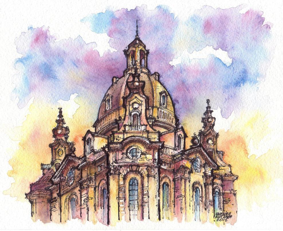 Dresden watercolor illustration by Kot-Filemon on DeviantArt