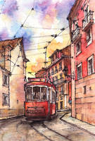 Portugal watercolor illustration by Kot-Filemon