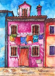 Burano Illustration by Kot-Filemon