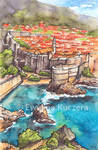 Dubrovnik, Croatia - illustration