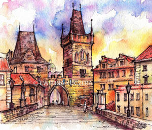 Charles Bridge in Prague by Kot-Filemon