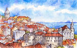 Lisbon Panorama - illustration by Kot-Filemon