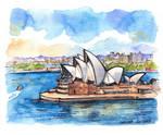 Sydney Opera House illustration by Kot-Filemon
