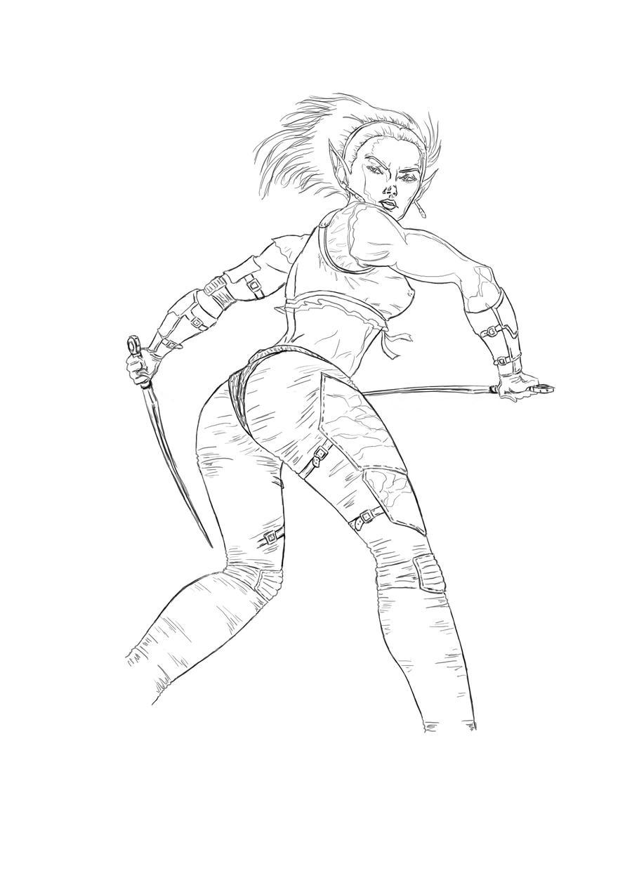 Single Line Character Art : Wraith s journal deviantart