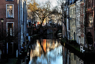 Utrecht houses at the Old Canal by Esperimenti