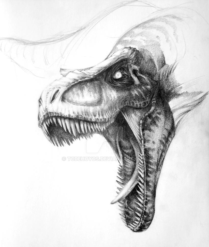 T-Rex Sketch by tcdehoyos on DeviantArt