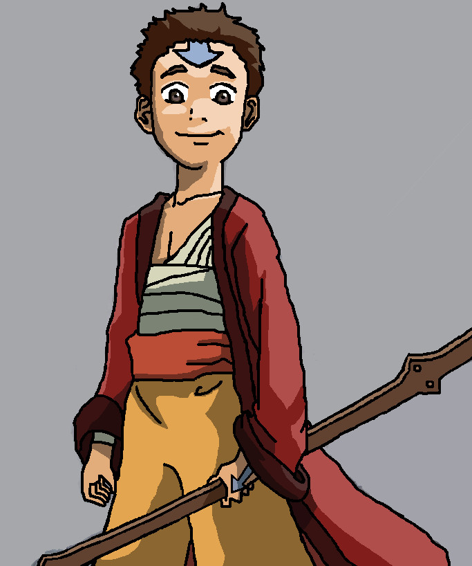 Avatar Aang With Hair: Aang Avatar The Last Airbender By Recca54 On DeviantArt