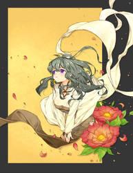 Oriental girl by potco