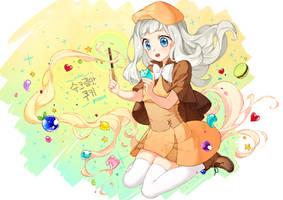 CookieRun Fan art - Cream Puff Cookie by potco