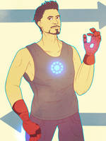 hey there iron man by narcio