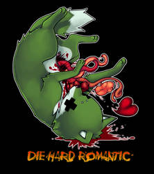 T shirt - DIE HARD ROMANTIC by Fax-Grimmin