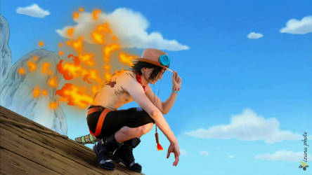 Ace One Piece + Photoshop by RedAceCosplay