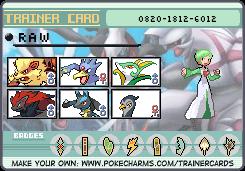 Pokemon Trainer Card new