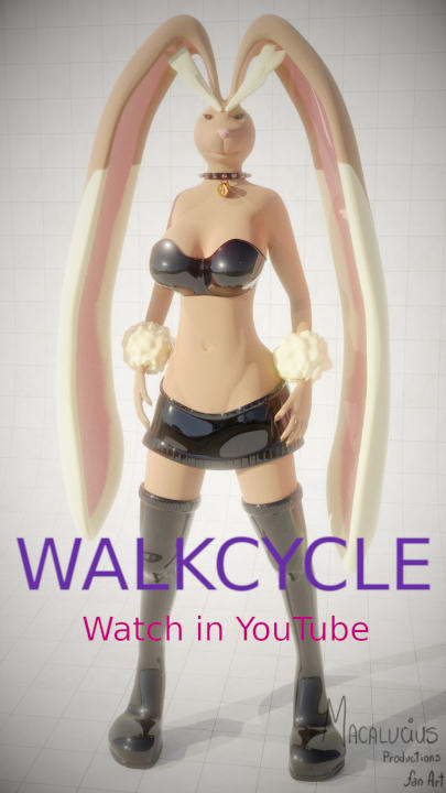 Anthro Lopunny Walkcycle