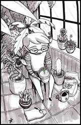 Inktober #13 The Gardener by teeyu