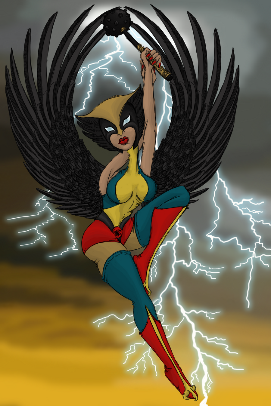 Hawk Woman by pumqin