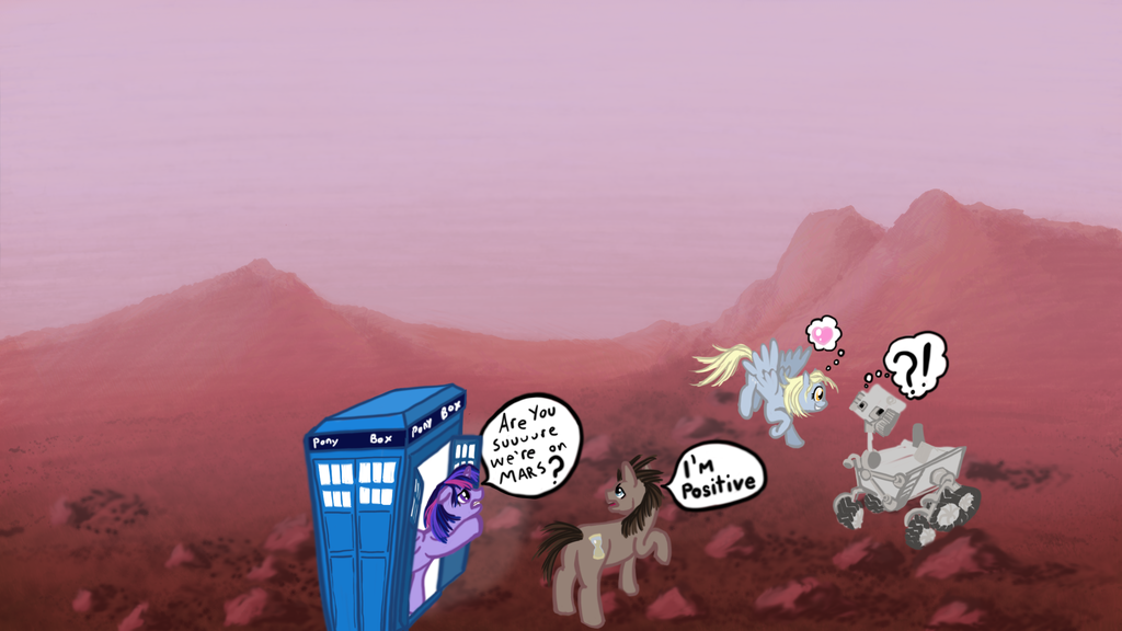 Derpy meets the mars rover Curiosity by pumqin