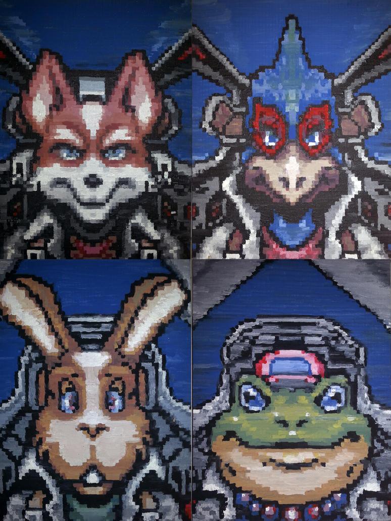 Starfox characters by pumqin