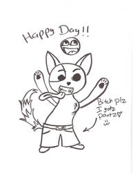 sketched saneyo kitty by imthetarget