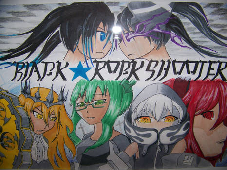 black rock shooter poster