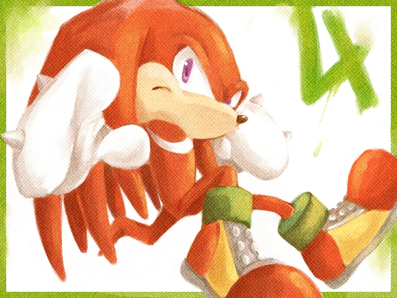 Knuckles the Echidna: 4 by cafe-star