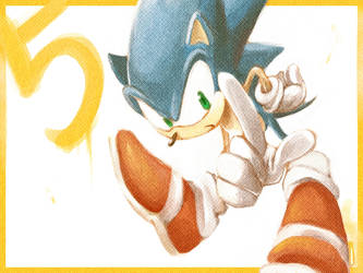 Sonic the Hedgehog: 5 by cafe-star
