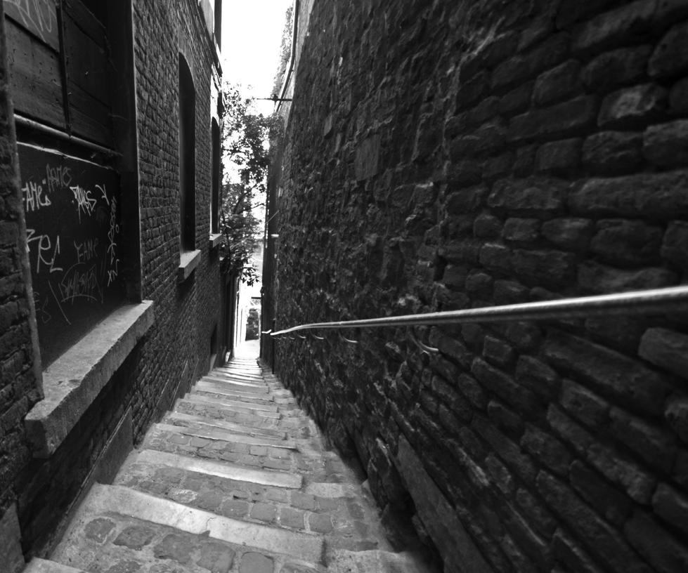Steep stairs by forgottenson1