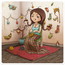 Girl who knits