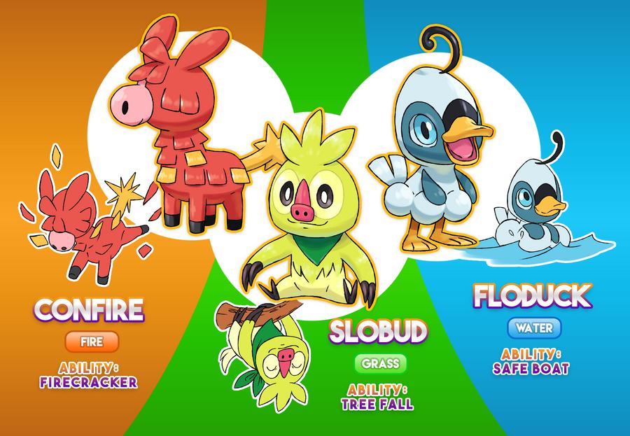 All Starter Pokemon Images
