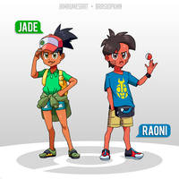Trainers Jade and Raoni by BrasioPkmn