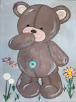 Teddy Bear in Field